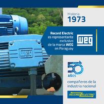 Desde 1973 representante exclusivo de la marca WEG en Paraguay.