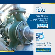 Desde 1993 Record Electric es representante de las Motobombas italianas SAER.